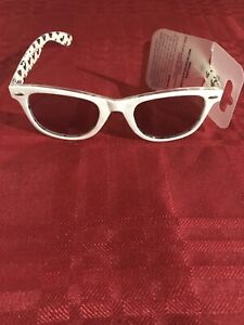 Disney Parks White Sunglasses W/ Mickey Mouse Ears Icon NEW