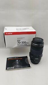 Canon EF 70-300 mm f/4-5.6 IS I USM Lens - Black - Boxed - UK SELLER