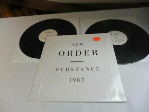 New Order ‎– Substance 2 LP vinyl First Press RTD 50 embossed