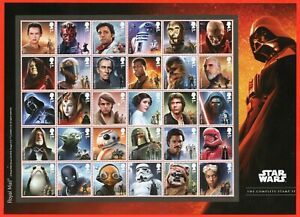 2019 Star Wars Composite Sheet of 30 Stamps