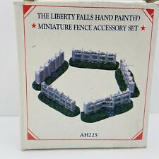 The Liberty Falls Pewter Collection 2000 Mini Village Fence Accessory Set Ah225