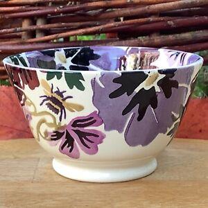 EMMA BRIDGEWATER . Liberty . Hollyhock & Bee Small OLD BOWL . Purple Flowers