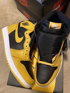 Nike Air Jordan 1 High Retro OG Pollen Yellow/Black New Size 9 555088-701