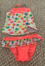 Girl's 2T Real Love Pink Bikini, Tankini Bathing Suit EUC Palm Trees