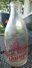East End Dairies Inc Milk Bottle Pyro Half Gallon Indianapolis Indiana Ind IN