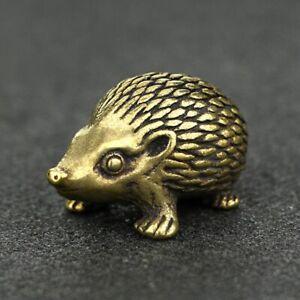 Hedgehog Brass Figurine Figure Miniature Home Ornament car decor bronze gift