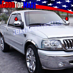 For Ford F150 1997-2001 2002 2003 + HERITAGE 2004 Chrome Mirror CAP Covers PAIR