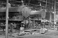 PHOTO  INSIDE THE REPAIR SHOPS AT RUGBY LOCO SHED 1953