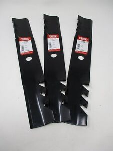 "3 Mulching Rotary Blades ¾"" Hole 16 1/16"" Toro 106078,106637 Oregon 90-644"