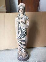 Riproduzione statua TERRACOTTA 51 cm ST41 scultura greco romano antica LEKYTHOS