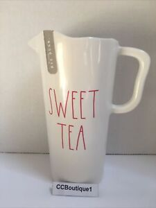 "New Rae Dunn Artisan Melamine Pitcher ""SWEET TEA"" with Red Text"