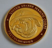 US Medal Badge Order US Marine, Teufelhunden Military Challenge Coin, Scarce
