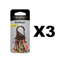 Nite Ize S-Biner KeyRack Black Steel Keychain Biner w/Plastic S-Biners (3-Pack)