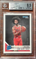 2019-20 Donruss Press Proof Silver Coby White RR /349 BGS 8.5 Bulls RC