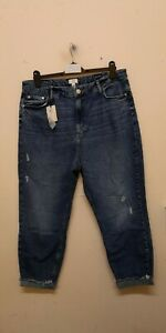 River Island Carrie comfort sculpt mom jeans size UK18R {R151}