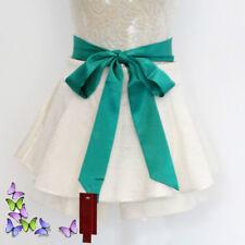Classic Satin Silky Sash Belt Corset Self Tie Bowknot Prom Wedding Dress Riband