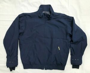 Zero Restriction Gore-Tex Full Zip Wind Rain Golf Jacket Navy Blue Mens Medium M