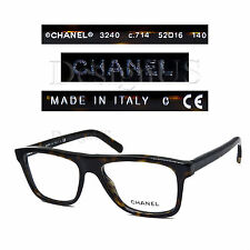 CHANEL 3240 c.714 Dark Tortoise 52/16/140 Eyeglasses Rx - Made in Italy - New