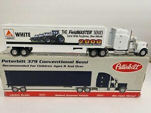 WHITE Field Master tractor trailer Peterbilt 379 semi truck SpecCast diecast