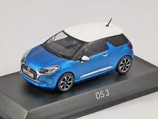 2016 CITROEN DS3 in Blue 1/43 scale model by Norev