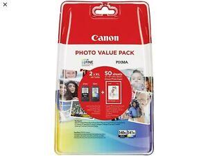 Canon PG-540XL/CL-541XL 50x Photo Paper Value Pack ink cartridge Original Hig...
