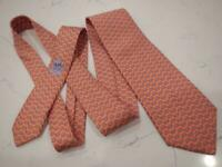 $195+ 100% Silk HERMES 5325-TA Chaine D'Ancre Chain Links Geometric Mens Tie
