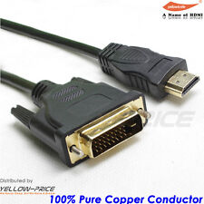 15ft Gold 24+1 DVI-D Male to HDMI Male Cable for HDTV HD, Local CA Seller