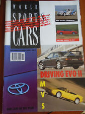 World Sports Cars Sep/Oct 1990 Honda NSX, Escort RS Cosworth, Mercedes Evo II