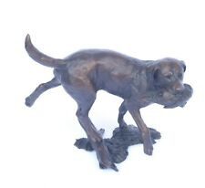 Working Labrador  Gundog Solid Genuine Bronze by Micheal Simpson Gift Boxed 1015