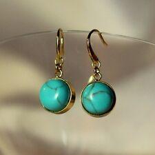 orecchini perla Cilindrico Turchese Semplice Originale Sera CC 3