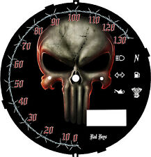 Yamaha xvs950 V Star Punisher Speedometer Custom Face Plate  KM/H  & MPH