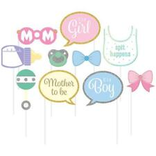 Baby Shower Glitter Photo Booth Props Set
