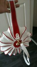 White And Red Ladies Leather Shoulder Hand Bag