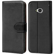 Book Case für HTC One M7 Hülle Flip Cover Handy Tasche Schutz Hülle Etui Schale