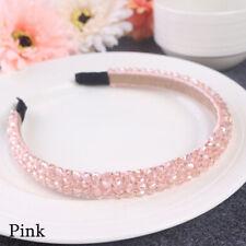 Bridal Children Crown Headwear Ornament Crystal Headband Rhinestone Hair Band Pink