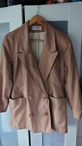 Ladies Christian Dior Coat. Rare vintage raincoat size 10. Embroidered logo
