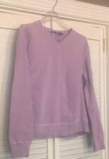 Field Gear Preowned Petite Womens Purple Active Sweater Cotton Size PM NWT