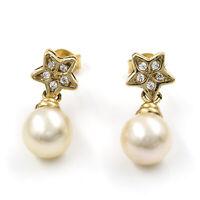 Castellano Jewels Pendientes Mujer Perlas Akoya Blancas Oro de Ley 18K