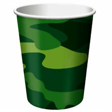 Army Camo Themed Party Cups