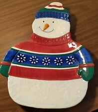 St. Nicholas Square 1999 Christmas Snowman Platter