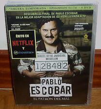 PABLO ESCOBAR EL PATRON DEL MAL 3ª TEMPORADA COMPLETA 5 DVD NUEVO PRECINTADO R2