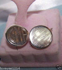 Monogram CMA Country Music Awards Sterling silver 925 drop disc tag Earrings