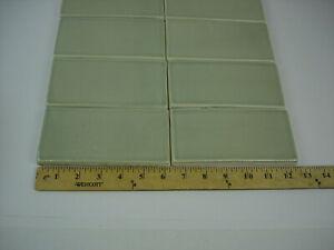 Lot of 8 Daltile 36MOD1P Succulen Green 3x6 Ceramic Glazed Subway Tile Wall Bath