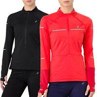 asics Performance Lite-Show Winter Half-Zip Longshirt Damen Lauf Sport Shirt NEU