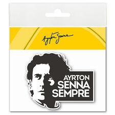 Ayrton Senna Adesivo Sempre 3D ANODIZZATO bianco e nero