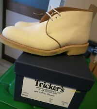 Tricker's Mike for Margaret Howell  UK 7 mens White  canvas shoes NEW IN BOX