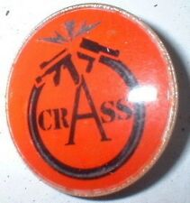 """CRASS   1"""" CRYSTAL METAL  BADGE, ANARCHY, PUNK,CONFLICT"""