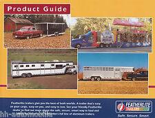 Prospekt Featherlite Anhänger Product Guide brochure trailers USA 10/00