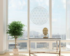 Fensteraufkleber Blume des Lebens  Aufkleber Lebensblume Milchglas Gravur Laser