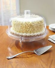 Multi-function Cake Pie Salad/Punch Party Dip Bowl Server W/Dome Cover Lid